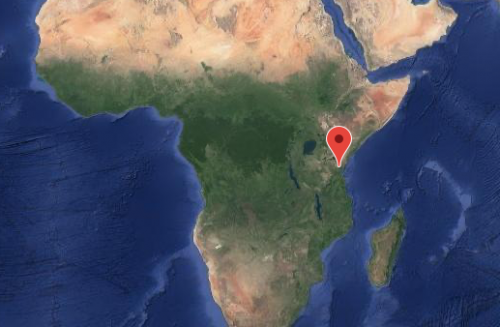 Location of the Usambara Biodiversity Conservation project in Tanzania