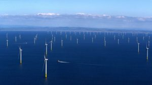 Walney windfarm in Cumbria UK